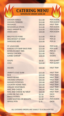 BBQ Catering Menu NYC Area