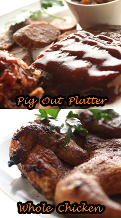 Baby Back Ribs, Pulled Pork and Sausage | Rotisserie Chicken